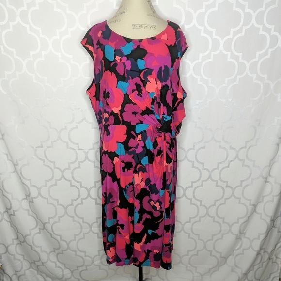 Dana Buchman Dresses & Skirts - Dana Buchman Floral Knit Twist Dress